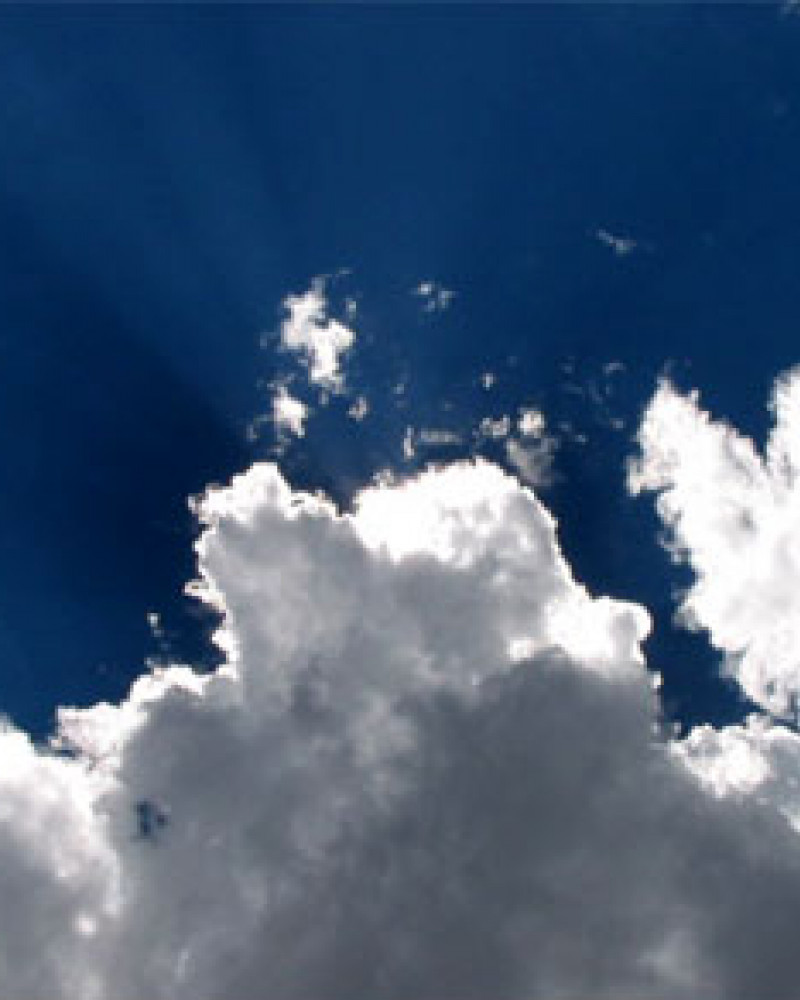Don't let this happy cloud fool you. It later turned into a big gray thunderhead