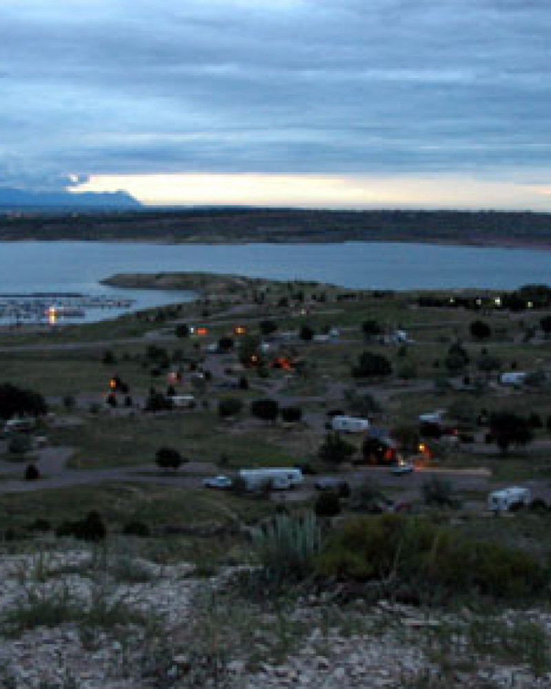 Our campground from a bluff