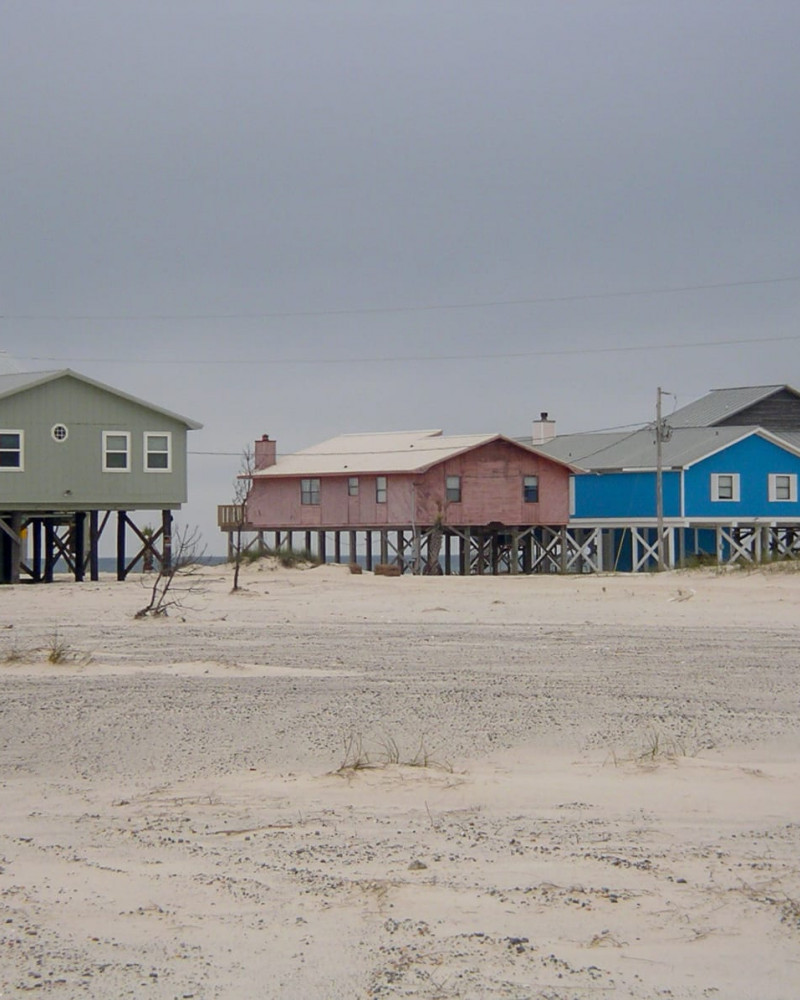 Colorful houses on stilts