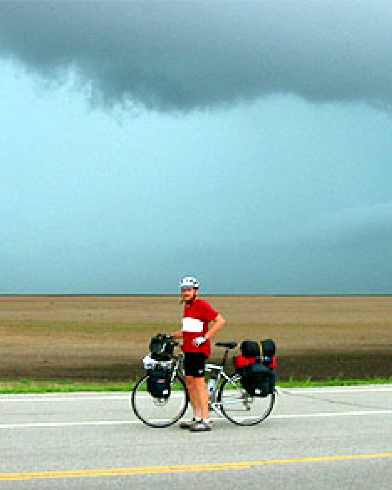 Steve and the quickly approaching storm