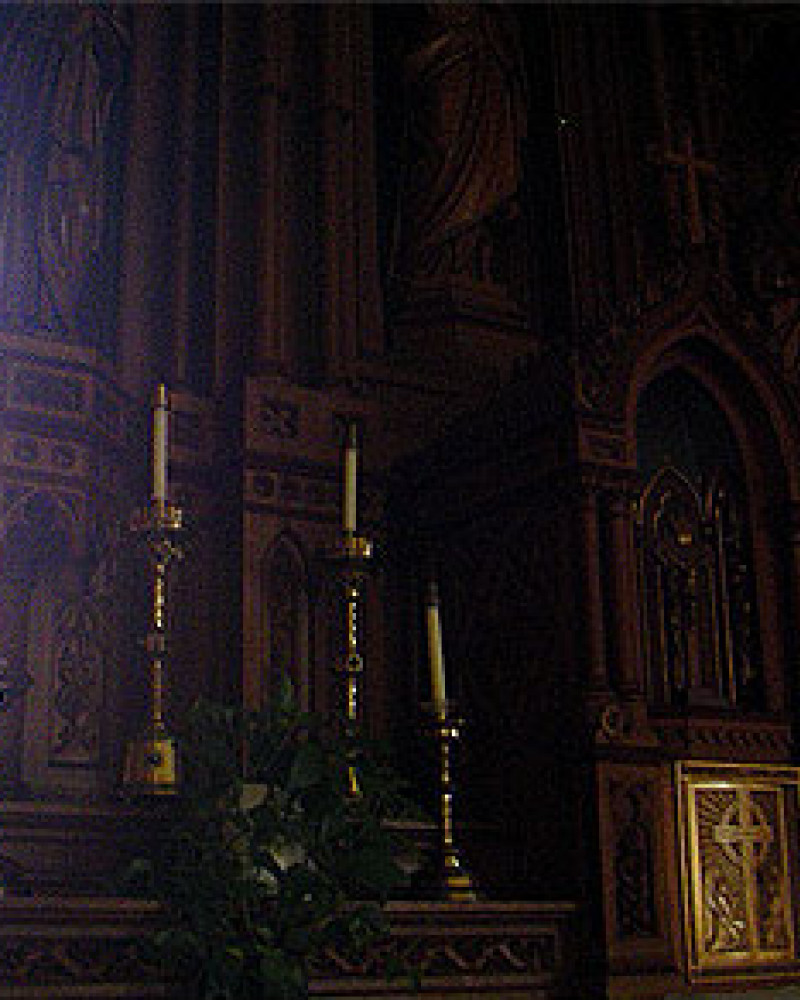The alter at St. Francis