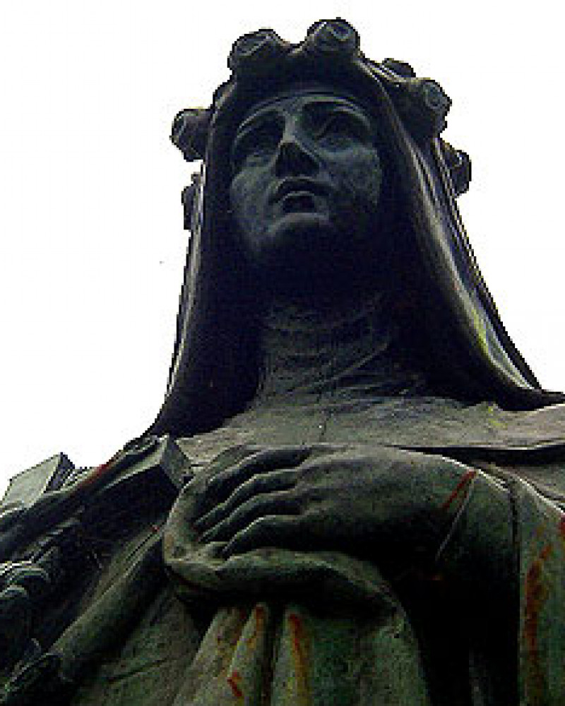 A statue outside of St. Rose