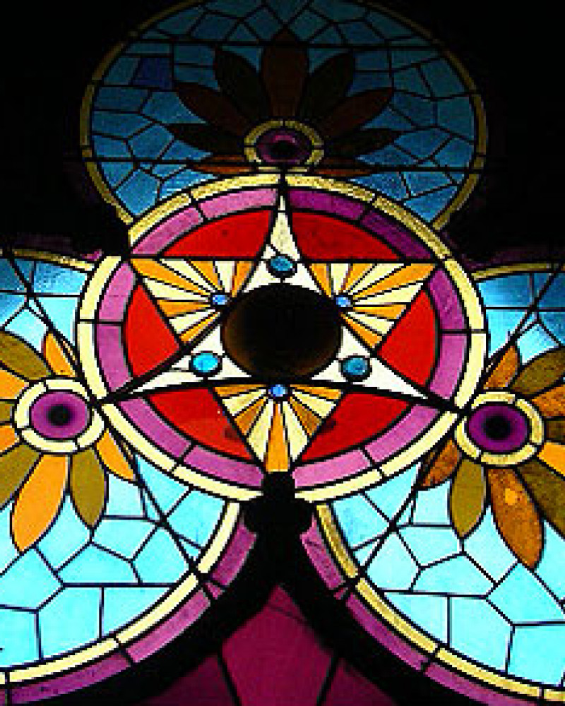 Stained glass at St. Francis 1