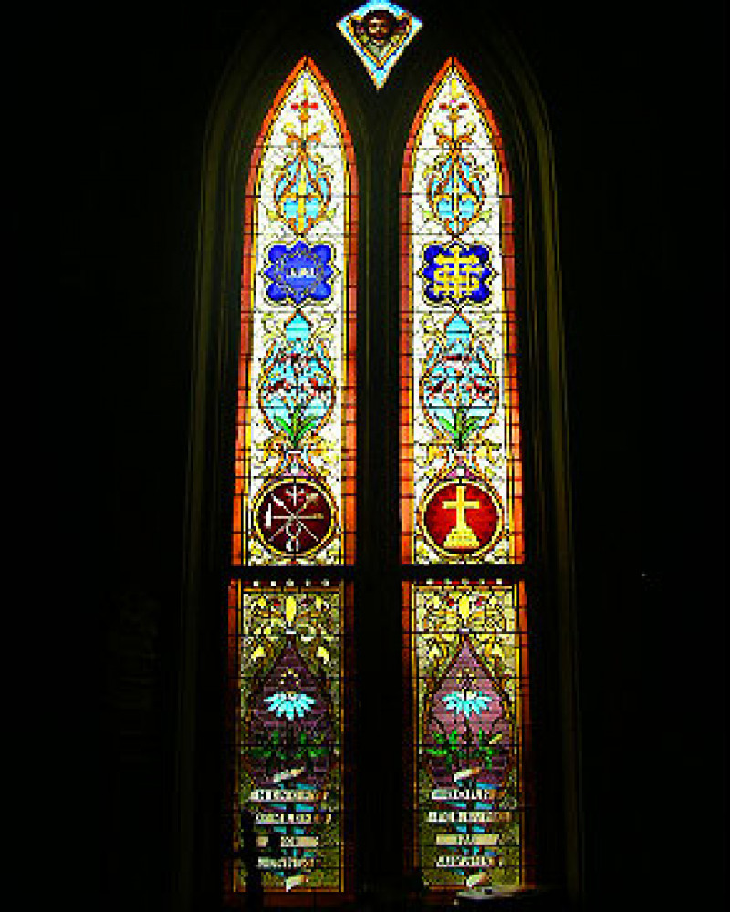 Stained glass at St. Francis 2