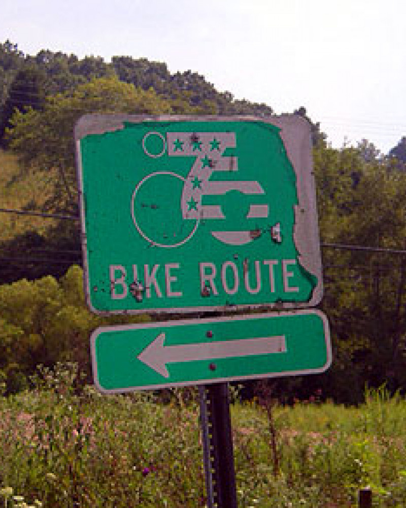 One of the original route signs