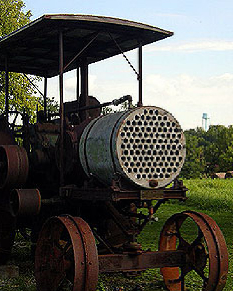 An old stream powered tractor