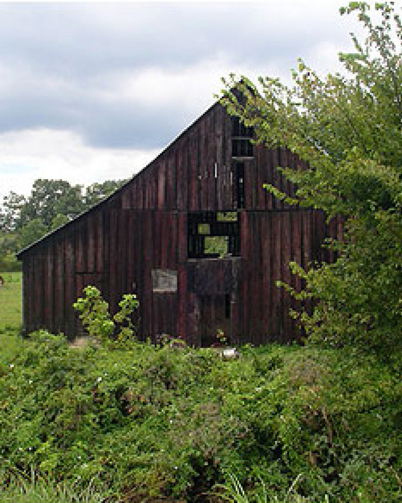 A barn converted into a distillery, then abandoned