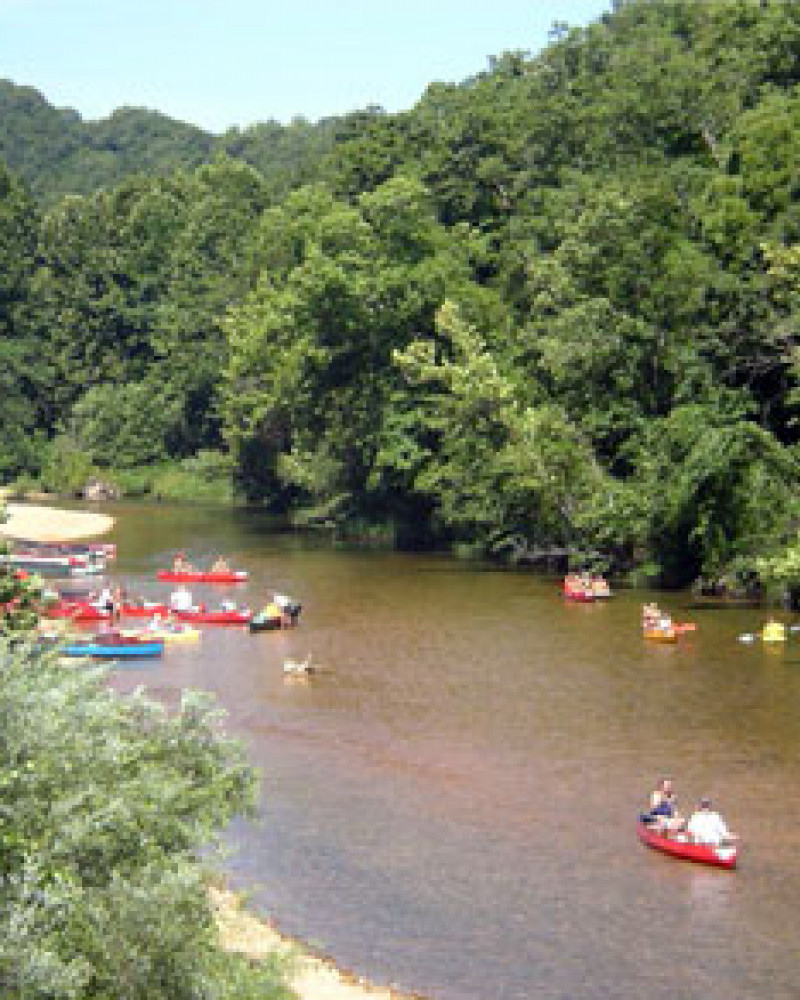 A canoe trip in the Ozarks