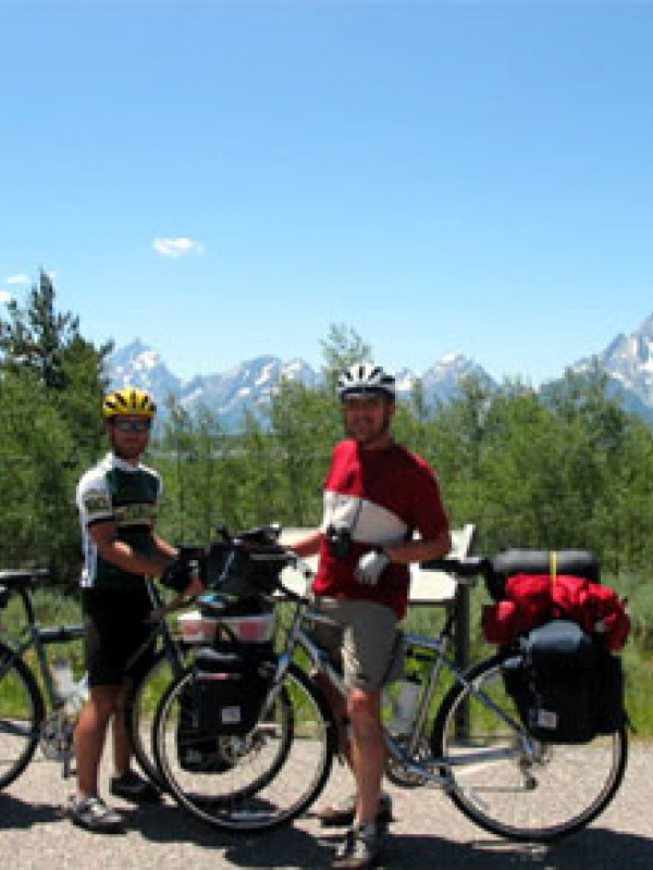 Steve and Mickey in front of the Tetons