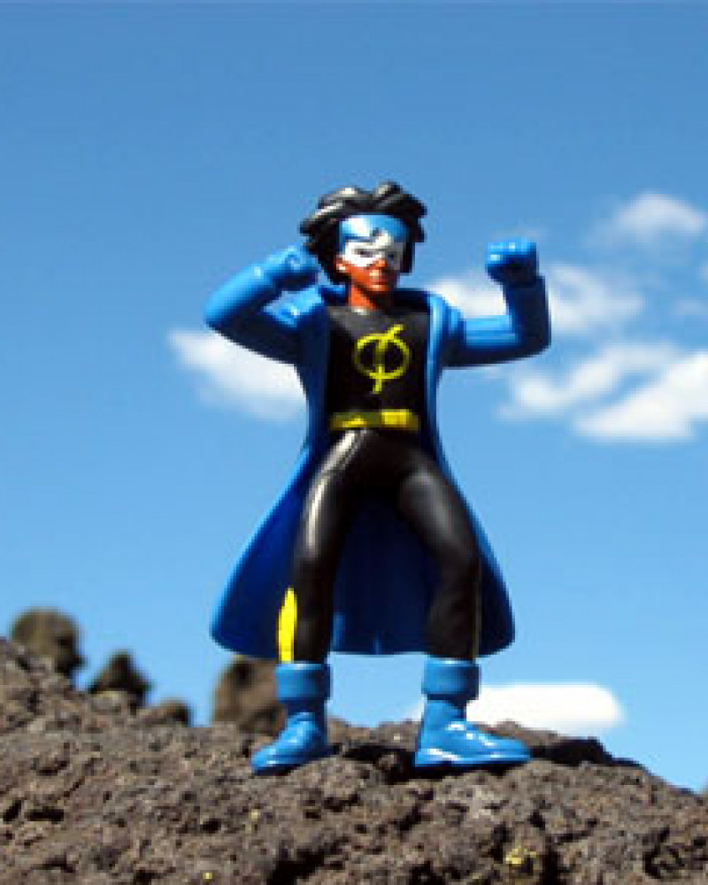 Our mascot, Static Shock