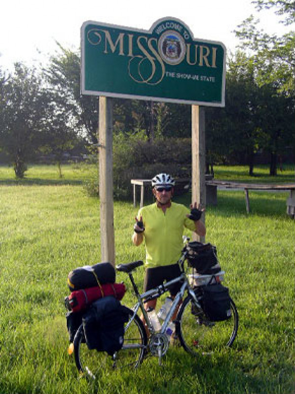 Steve at the KS MO border