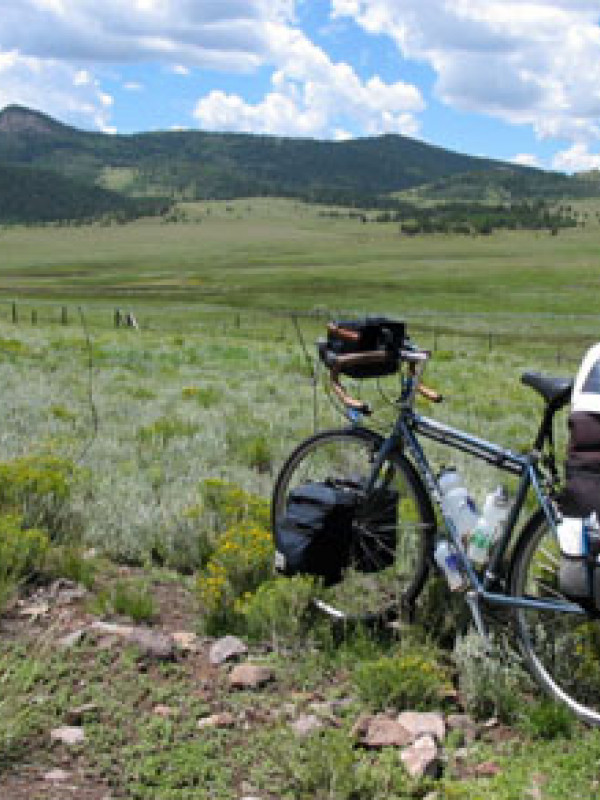 Mickey's bicycle on the other side of Hoosier Pass