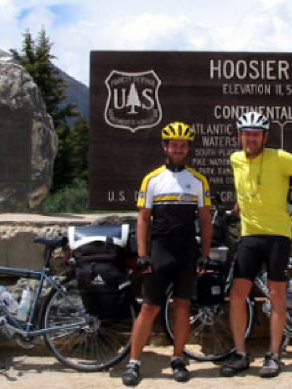 Mickey and Steve at the summit of Hoosier Pass