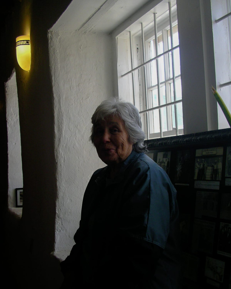 A woman at the San Elizario Mission