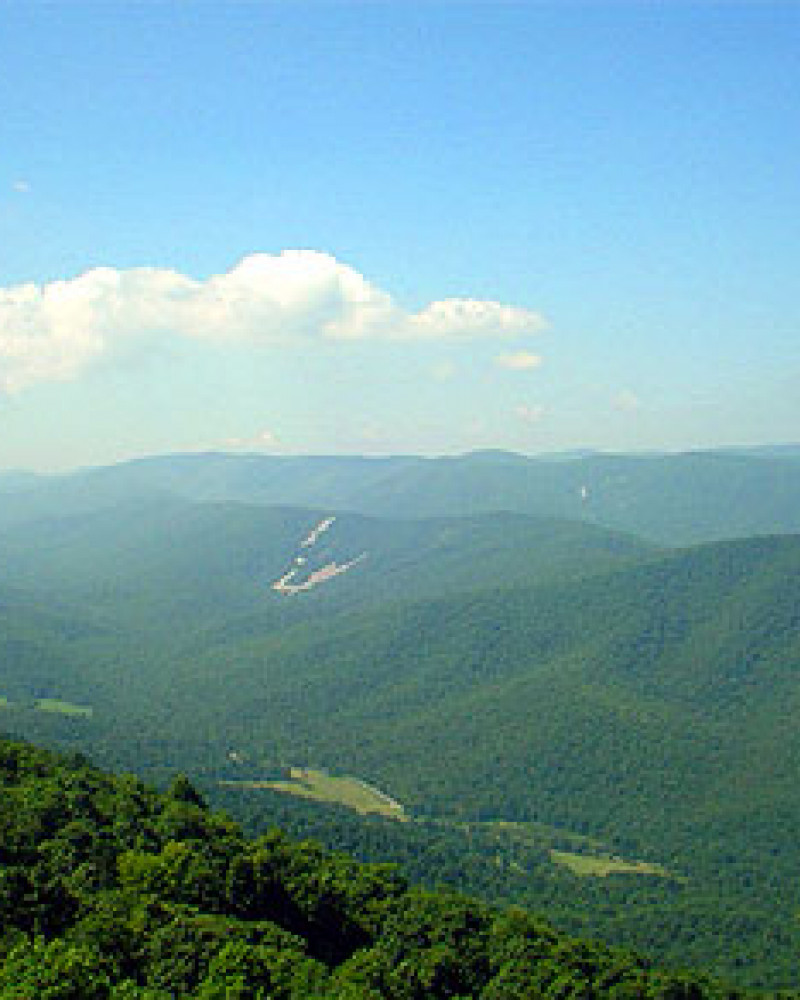 A view of the Blue Ridge of the Appalachians