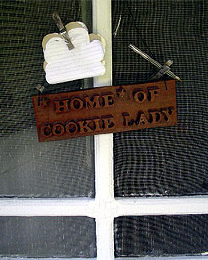 The Cookie Lady's door (she wasn't home, sadly)