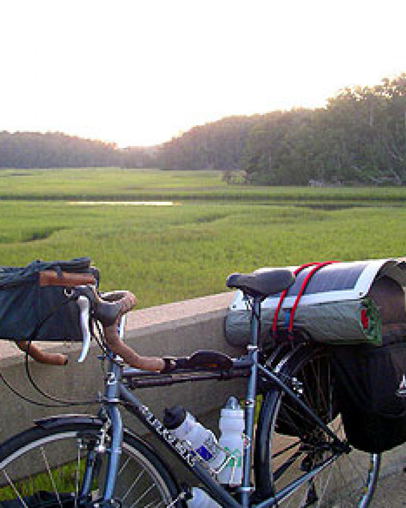 Mickey's bike on the Colonial Parkway