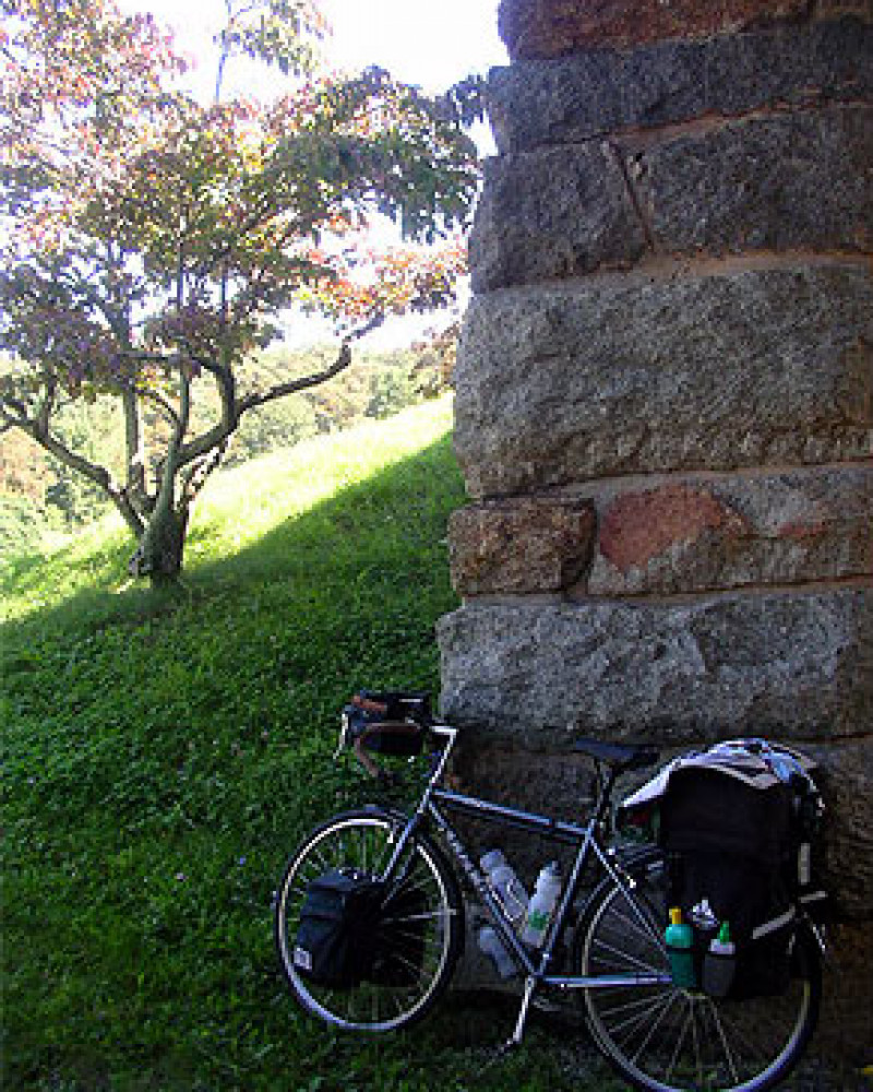 Mickey's bicycle below the Blue Ridge Parkway