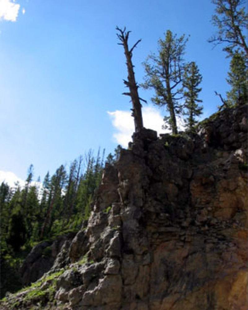 A old bluff at the continental divide